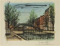 le canal saint-martin, paris by bernard buffet