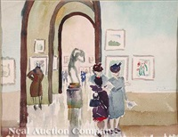 perusing the national gallery by laura wheeler waring
