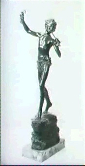figure of a piper from the land of dreams by alfred bertram pegram