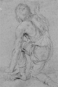 a kneeling figure by lionello spada