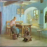 preparing the meal by gustav august hessl