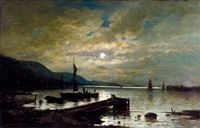 éjszakai kikötő by emile louis vernier