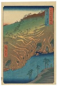 oban tate-e. aus der serie rokujuyoshu meisho zue (berühmte plätze in mehr als 60 provinzen) by ando hiroshige