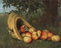 apples in a straw hat by rufus way smith