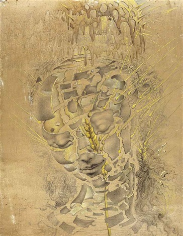 study for the head of the virgin by salvador dalí