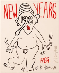 new year's eve by keith haring