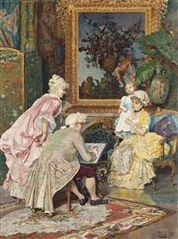 sitting for a portrait by giulio rosati