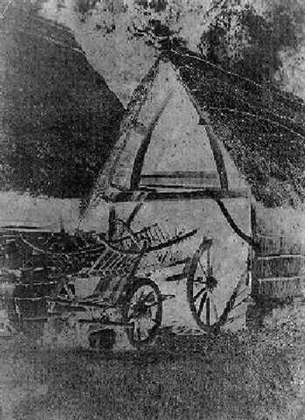 grange charette et instruments agricole by a leblondel