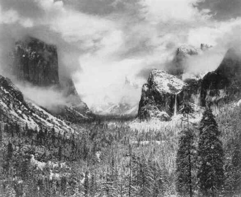 CLEARING WINTER STORM,YOSEMITENATIONAL PARK, CA 1944 by ...Ansel Adams Clearing Winter Storm