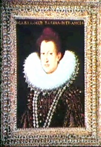 portrait of marie de medici by frans pourbus (-unattributable)