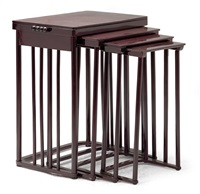 a set of four nestling tables no 986 by josef hoffmann