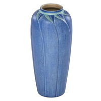 tall vase with stylized leaves by aurelia josephine coralie arbo