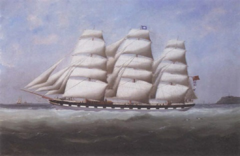 cape sable under sail by edouard the younger adam