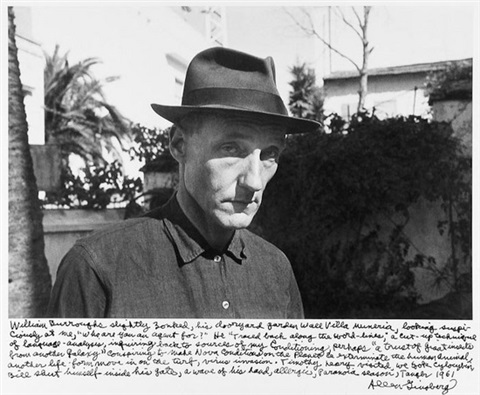 william s burroughs outside his room in villla mmoneria tangier morocco by allen ginsberg