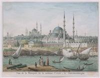 vue de la mosquée de la sultane validé, à constantinople by jean-baptiste hilaire