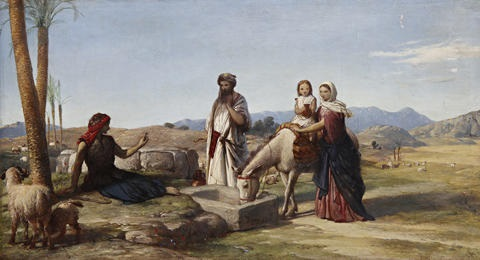 the holy family on the return from egypt by john rogers herbert