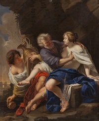 lot e le figlie by simon vouet