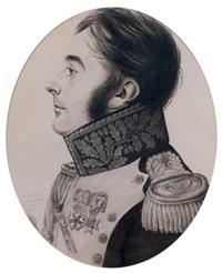 portrait ovale du général pelet en uniforme de général de brigade des chasseurs à pied de la garde impériale by etienne bouchardy