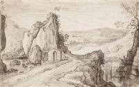 a mountainous landscape by carel liefrinck