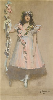 the garlanded girl by john lavery