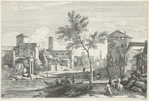 architektur capriccio pl xxiii from ansichten um venedig after marco ricci by davide antonio fossati