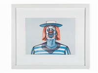clown (from recent etchings) by wayne thiebaud