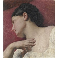 testa di donna (studio dal vero) by francesco hayez