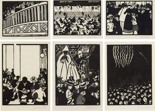 Sechs Ansichten zur Weltausstellung in Paris set of 6 by ...