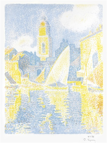 saint tropez le port by paul signac