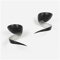 flamme sconces (pair) by serge mouille