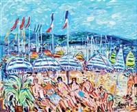 la plage à cannes by maurice empi