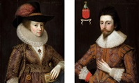portraits of sir thomas cowdray (+ his wife, lady cowdray; pair) by adam de colone
