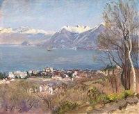 an alpine lake by sir david murray