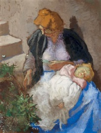 maternité by edgar chahine