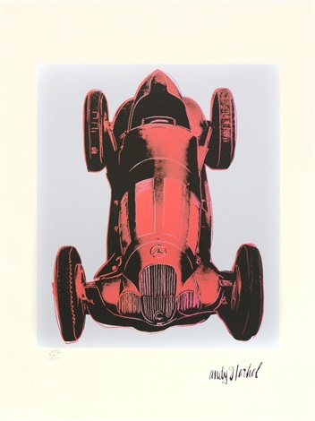 mercedes formule 1 4 works by andy warhol
