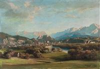 panoramablick von maria plain auf salzburg by franz kulstrunk