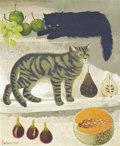 cats and fruit by mary fedden