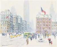 winter at madison square by guy carleton wiggins