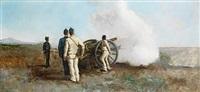 manovre militari di fronte al vesuvio by michele cammarano