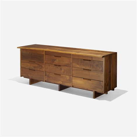 triple chest of drawers by george nakashima