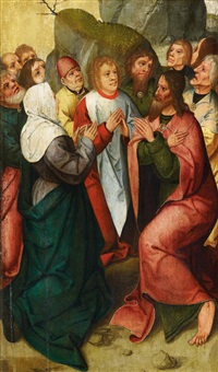 teil eines passionsretabels by master of the antwerp adoration