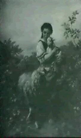 girl with lambs by j. hofner