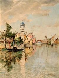 vista de venecia by serafín avendaño