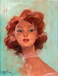 portrait de rousse by jean-gabriel domergue