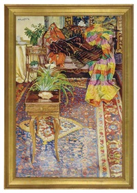 a living room interior scene by lillian mackendrick