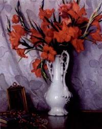 still life with gladioli by mikhail rundaltsov