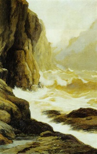 brusende bjergflod by john francis faed