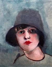 dívka v klobouku by rudolph kremlicka