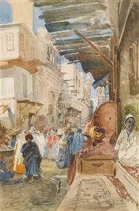 street in cairo by konstantin egorovich makovsky