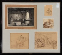 five studies (5 works) by johann julius exner